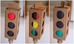 Cardboard traffic light images
