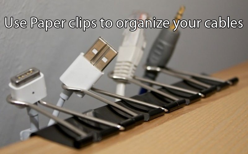 Life hacks use-paper-clips-to-organize-your-cables-life-hack
